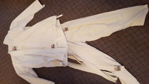 Karate suit and belt