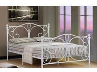 Kingsize bed frame with memory foam mattress
