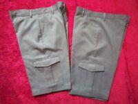 2 x Boys Grey School Cargo Shorts Age 11-12 Years IP1