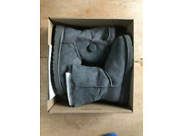 UGG Bailey Button Grey Boots Size UK 6.5