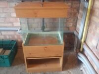 50L fish tank and stand