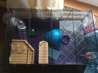Hamster cage + 5kg wood shavings
