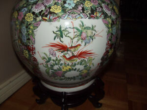 Larger Chinese Vase With Stand