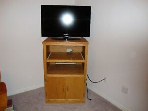 For Sale:  Handcrafted Solid Oak TV Stand