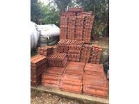 Reclaimed clay roof tiles, Interlocking