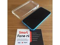 Blue 16GB iPhone 5C. Unlocked. 3 month warranty. Card payment/Delivery available