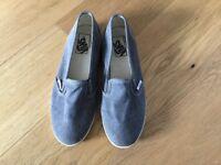 Vans ladies shoes in grey size 5