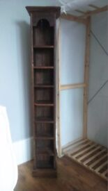 Vintage Hard Wood Shelf Unit