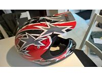 MOTOCROSS OR QUAD YOUNG LARGE HELMET SIZE 52-53 AS PER PHOTO`S