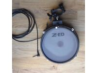 "Alesis 8"" Double trigger mesh head electronic drum pad dual zone snare with cable, clamp and L-arm"