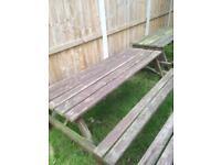 Pub garden table