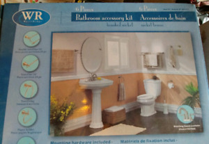 Bathroom accessory kit - 6 pices - like new