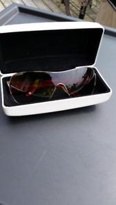 Versace Red/Grey Unisex Sunglasses