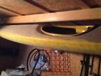 Two fibreglass kayaks free to collector each 4.2 meters long