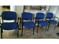 4 stackable chairs