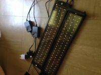 LED fish tank lights ultra thin 51cm adjustable 72 LEDs