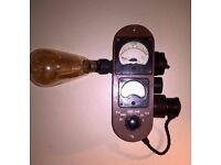 Bakelite meter wall light. Upcycled.