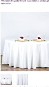 22. New white table cloths