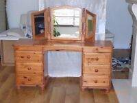 Luxury Pine Dressing table with Mirror - high quality workmanship.
