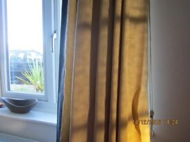 "Pair Fully Lined Quality Curtains together with 72"" Wide Pull Cord Rail"