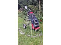Used golf set and trolley