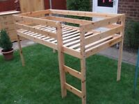 Child bed - THUKA Hit Midsleeper Cabin Bed - solid pine