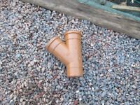 SALE !! Polypipe UG405 Drain 110mm 45 degree Triple Socket Equal pipe