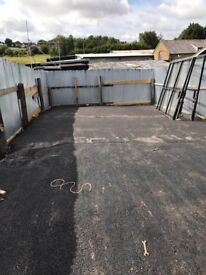 Open storage yard to let 21ft x 47 ft