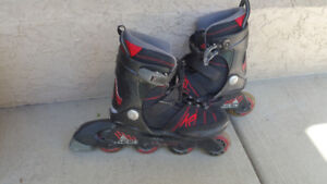 Boys/Girls In-line Roller Blades - Adjustable from size 1 to 5.