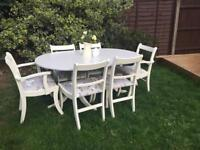 *** Shabby chic table & 6 chairs ***