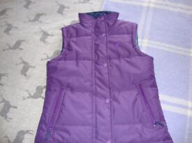 Girls purple gillet