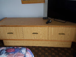 Downsizing: desk, cabinet, round chairs, lamps, head boards, etc