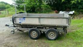8 X 5 ifor Williams electric tipping trailer dropsides Cookstown