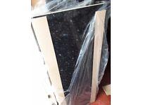1.5m kitchen gloss laminate black slate worktop