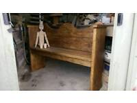 Pew Bench Settle. Hade Made From Reclaimed Timber By Devon Artisan