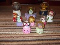 Collection of 10 Love/Moon/Star Girly Snow Globes