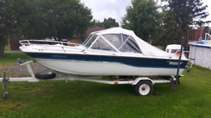 Tempest bowrider boat motor and trailer