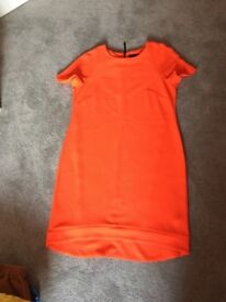 Topshop orange crepe dress