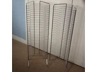 Pair of Chrome DVD Holders