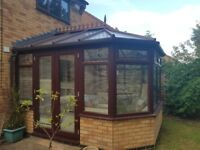 UPVC Victorian Style Conservatory Brown