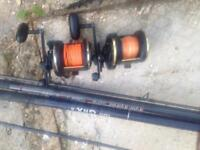 TODAY ONLY Sea fishing rods reels tackle