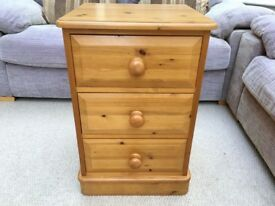 Solid pine Bedside 3 drawer cabinets (£25 each)