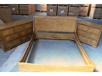 Used Five Pice Wooden Bed & Bedroom set for sale