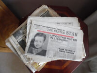 Vintage newspapers Lisburn NI ulster star 1950s 60s history antique
