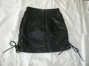 EASY RIDER BLACK LEATHER MOTORCYCLE SKIRT