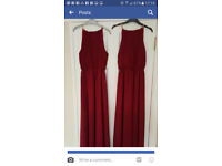 2 Brand New Burgandy Bridesmaid Dresses