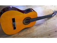 Herald Electro-Acoustic HL44 Full Size Classical Guitar with Case