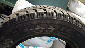 Excellent condition Goodyear Nordic 205/55 R16 winter tires