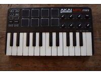 Akai mpk mini 25 key midi controller keyboard