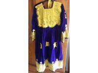 Handmade velvet dress age 5-8?